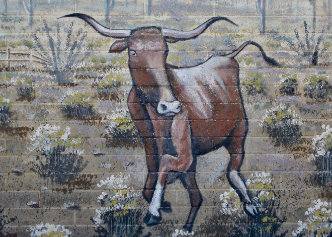 Steer Mural Farmer John's Meat Packing Plant Tucson AZ 04-2009