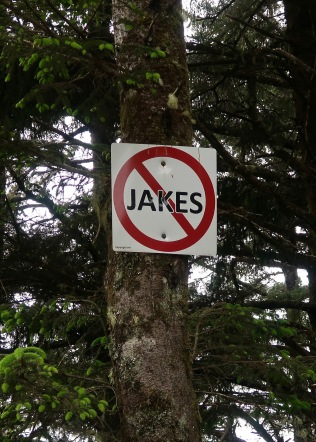 No Jakes Sign