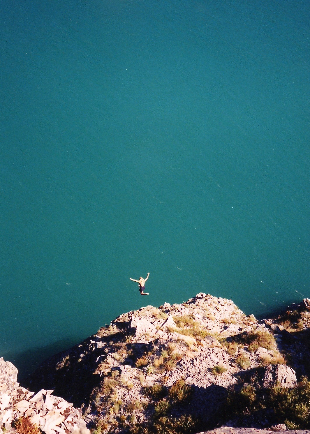 08-1998 - Erin May - Cliff jumping, Glacier National Park, MT