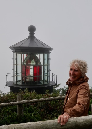 Polly at Cape Meares Lighthouse