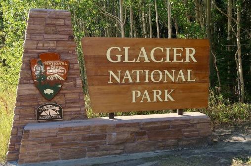 Glacier NP Entrance Sign