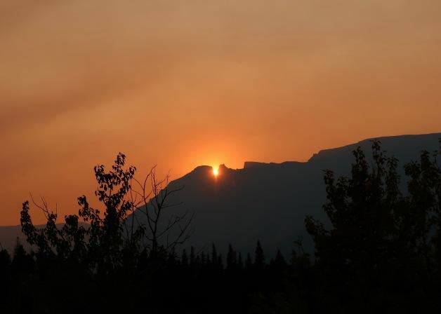 Sunset Over Singleshot Mountain