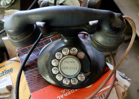 Rotary Phone in Office