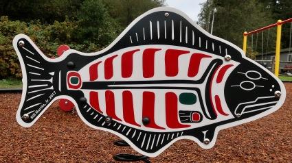 Native Art Salmon Playground Equipment