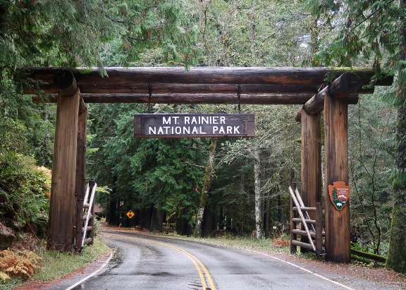 Mt. Rainier National Park Nisqually Entrance Sign