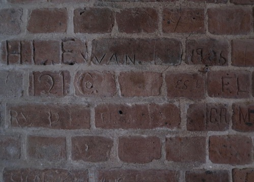 Soldier Graffiti from 1906