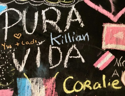 Pura Vida Coralie, Chalkboard Art in My Hostel